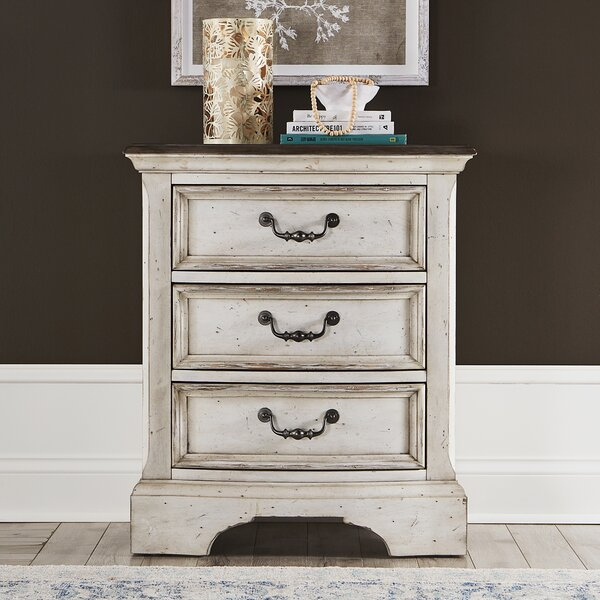 Corona 3 Drawer Nightstand by One Allium Way