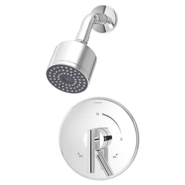 Dia Shower Pressure Balance Shower Faucet Trim with Lever Handle by Symmons