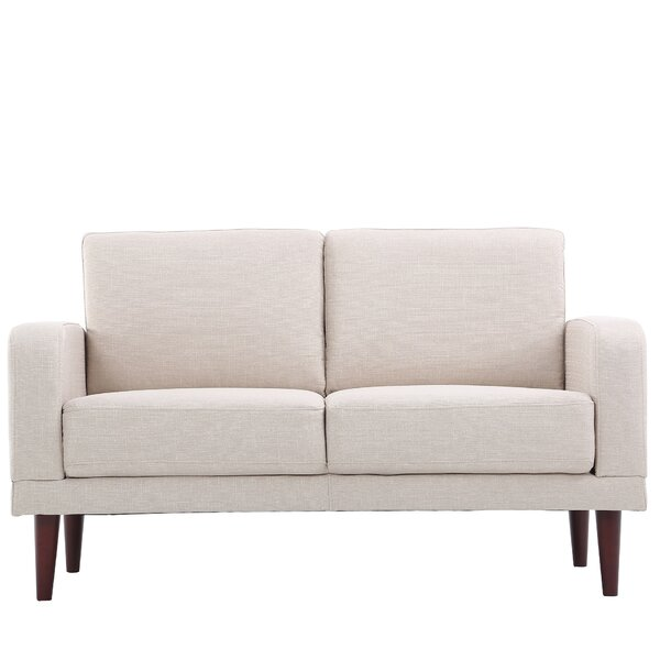 Falkville Linen Upholstered Loveseat by Wrought St