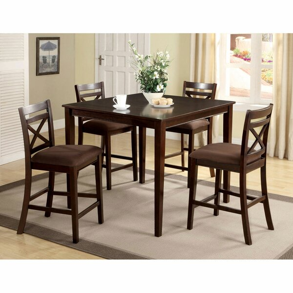 Anabia 5 Piece Counter Height Dining Set by Red Barrel Studio Red Barrel Studio