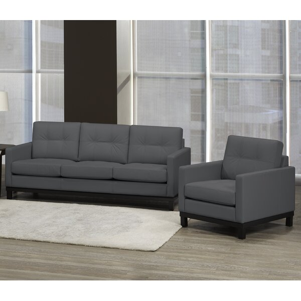 Merrick Road 2 Piece Leather Living Room Set by Latitude Run