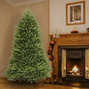 fir 75 hinged green artificial christmas tree and stand - Artificial Christmas Trees Sale