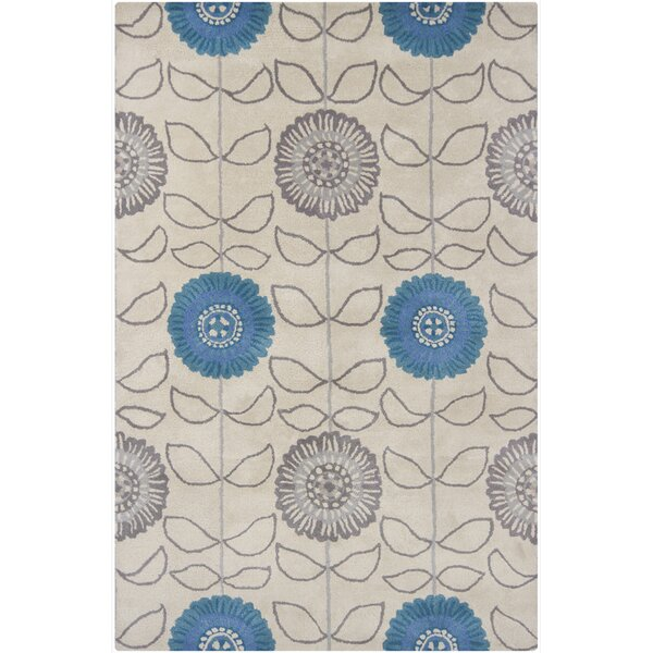 Boise Hand Tufted Rectangle Transitional Blue/Gray Area Rug by Darby Home Co