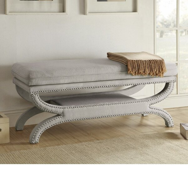 Leiker Patently Trendy Metal Storage Bench by Rosdorf Park