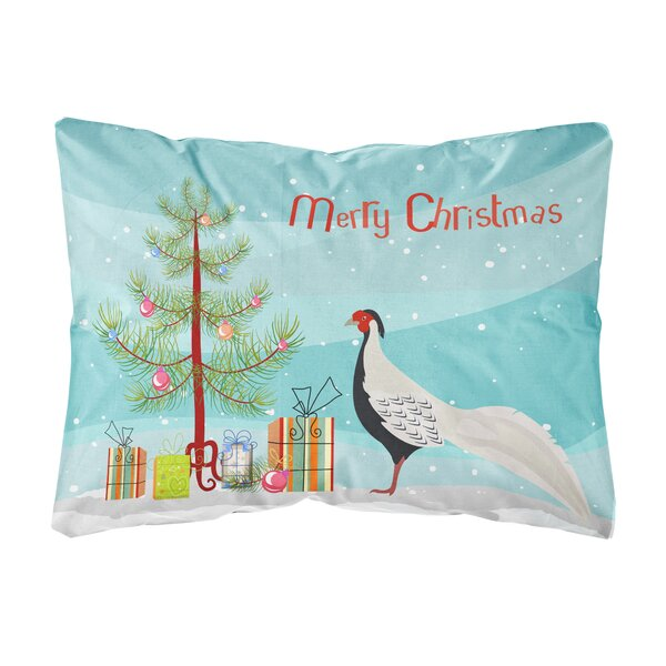 Ora Pheasant Christmas Indoor/Outdoor Throw Pillow by The Holiday Aisle