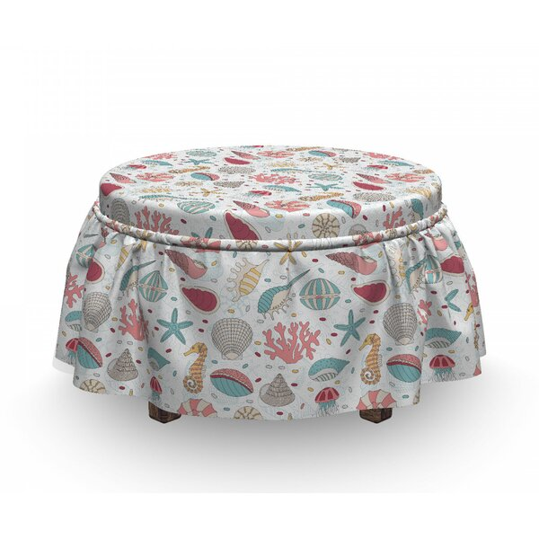 Hand Drawn Animal Ottoman Slipcover (Set Of 2) By East Urban Home