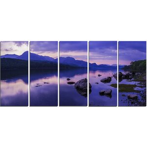 Coniston Water in the Lake District 5 Piece Photographic Print on Wrapped Canvas Set by Design Art