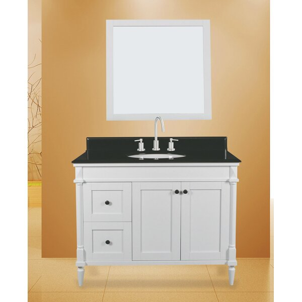 Barcelona 42 Single Bathroom Vanity with Mirror by NGY Stone & Cabinet