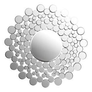 Orren Ellis Wesolowski Circles Round Accent Mirror