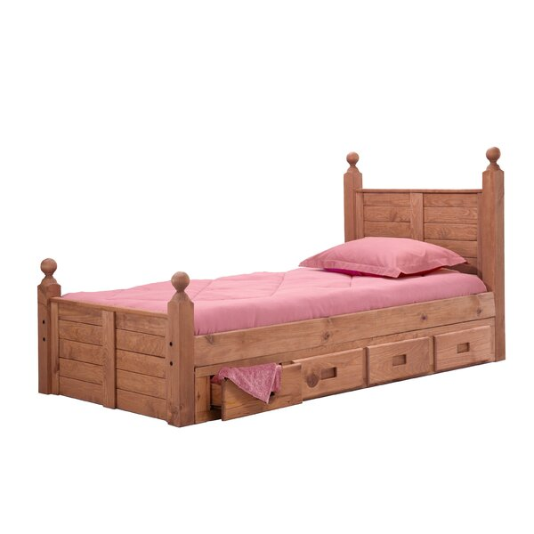Christner Twin Four Poster Bed with Storage by Harriet Bee