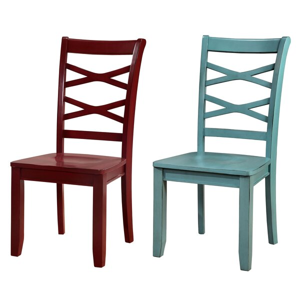 Newell Cross Back Side Chair (Set of 2) by Longshore Tides Longshore Tides