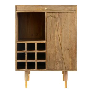 Caresse Bar Cabinet with Wine Storage by Mistana