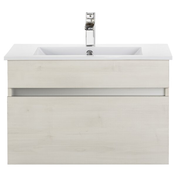 Wood Grain Ivory Floating 30 Single bathroom Vanity by Cutler Kitchen & Bath