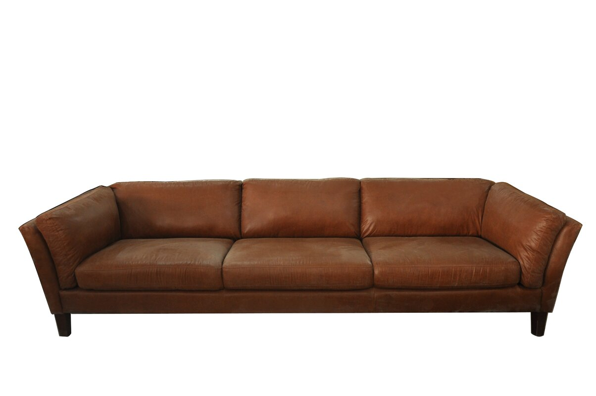 Charming Condron 3 Seater Leather Sofa