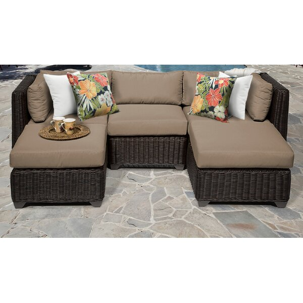 Mejia 5 Piece Sectional Seating Group With Cushions By Rosecliff Heights