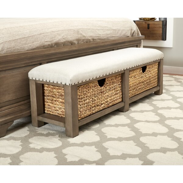 Trisha Yearwood Home Upholstered Drawer Storage Bench by Trisha Yearwood Home Collection