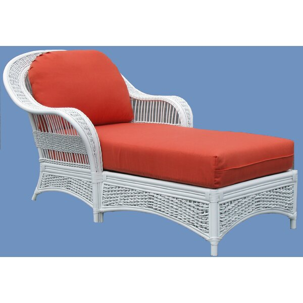 Regatta Chaise Lounge with Cushion by Spice Islands Wicker Spice Islands Wicker