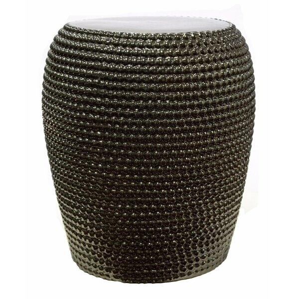 Prevost Beaded Garden Stool by Bloomsbury Market