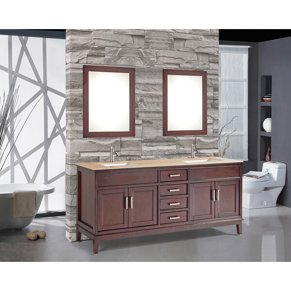 Middleton 60 Double Bathroom Vanity Set with Mirror by Andover Mills