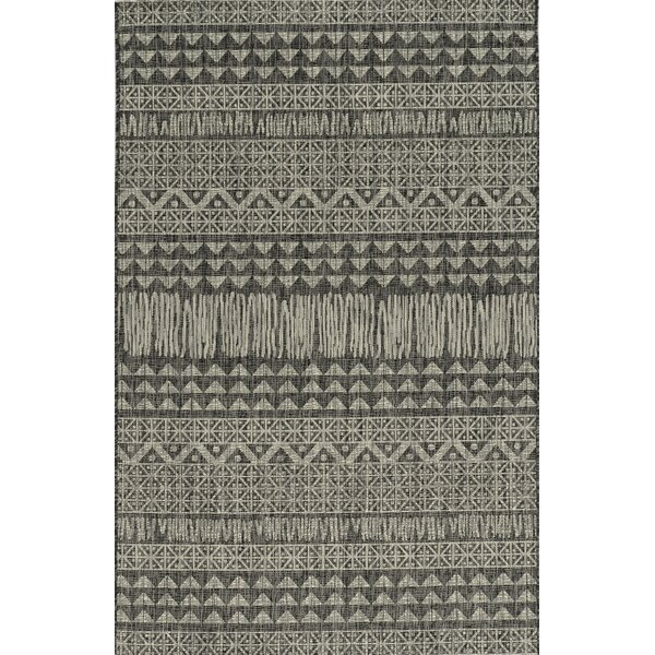 Malchow Charcoal Indoor/Outdoor Area Rug by Bungalow Rose