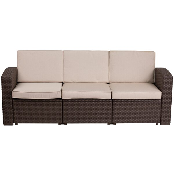 Clifford Patio Sofa with Cushions by Breakwater Bay
