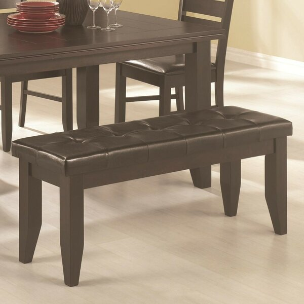 Sirois Comfy Dining Leather Bench by Red Barrel Studio