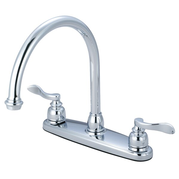 NuWave French Double Handle Kitchen Faucet by Kingston Brass