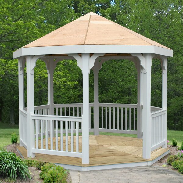 10 Ft. W x 10 Ft. D Solid Wood Patio Gazebo by Creekvine Designs