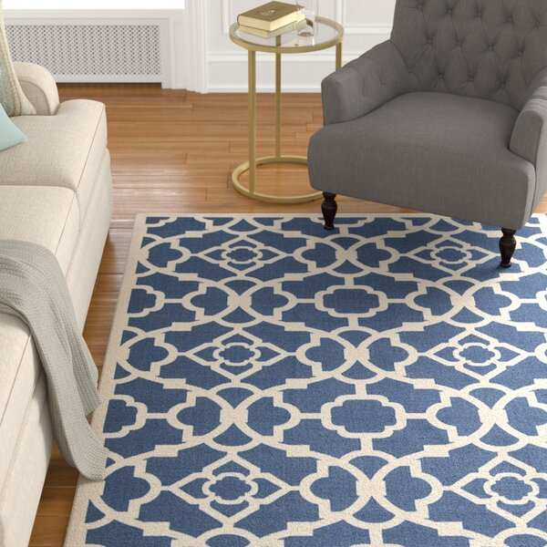 Kenton Lapis/White Indoor/Outdoor Area Rug by Alcott Hill
