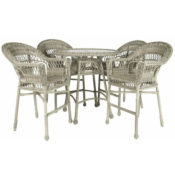 Ring 5 Piece Bar Height Dining Set by Bay Isle Home