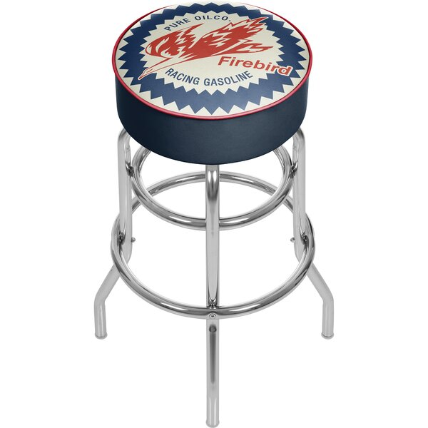 Pure Oil Firebird 31 Swivel Bar Stool by Trademark Global