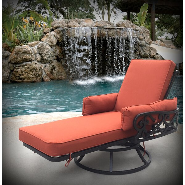 Pineville Swivel Chaise Lounge with Cushion by Darby Home Co Darby Home Co