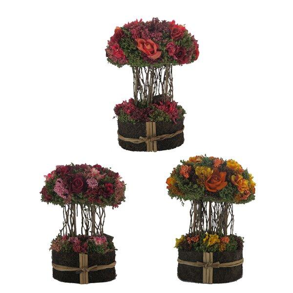 3 Piece Mixed Centerpiece Floral Arrangement Set (Set of 3) by Fleur De Lis Living