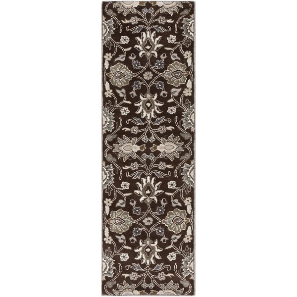 McLoon Floral Handmade Tufted Wool Oyster Gray Area Rug