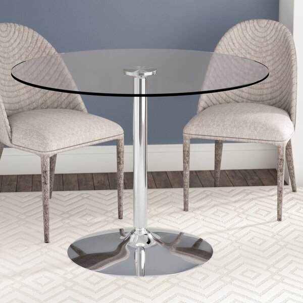 Cavell Round Glass Dining Table by Wade Logan