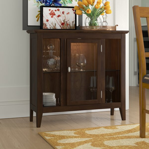 Gilboa Entryway Lighted Console Curio Cabinet By Charlton Home