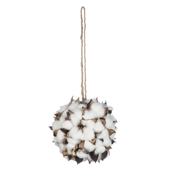 Cotton Ball Ornament (Set of 2) by Gracie Oaks