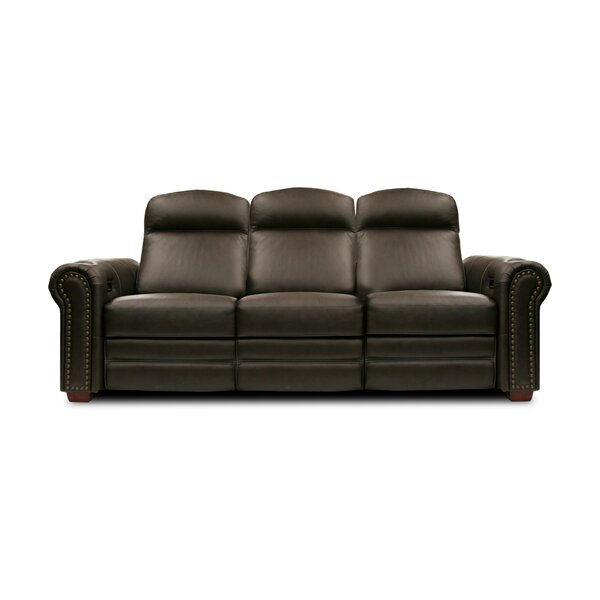 Signature Series Leather  Home Theater Sofa By Bass
