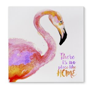 'Like Home Flamingo' Painting Print on Wrapped Canvas by KAVKA DESIGNS