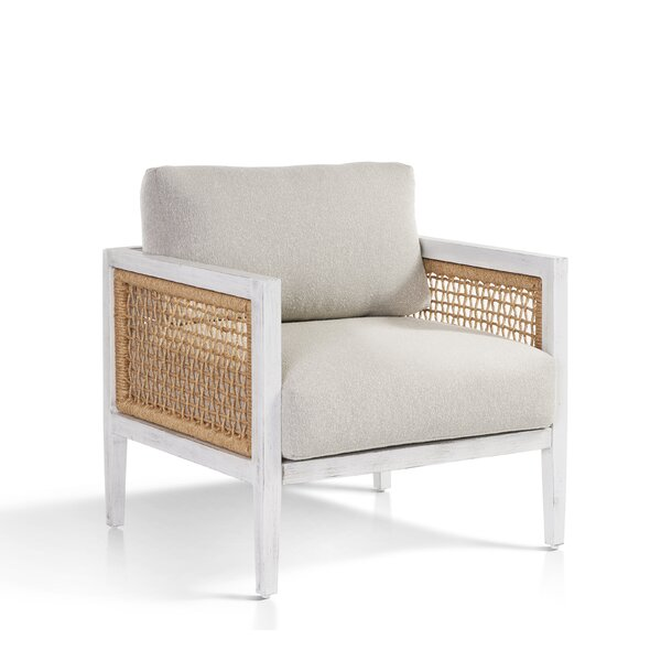 Mciver Parva Patio Chair with Sunbrella Cushions by Rosecliff Heights
