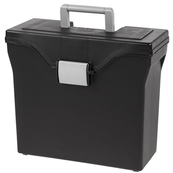 Slim Letter Size Portable File Box (Set of 5) by IRIS USA, Inc.