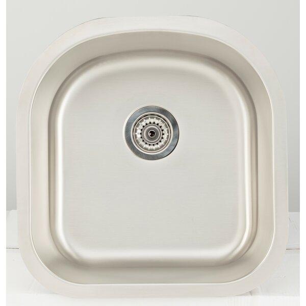 21 L x 9 W Undermount Kitchen Sink with Basket Strainer