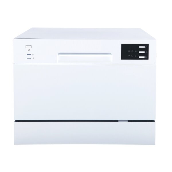 21.65 55 dBA Countertop Dishwasher with Delay Start and LED by Sunpentown