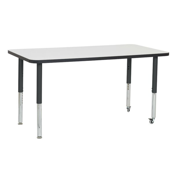 Dry-Erase Adjustable 60 x 30 Rectangular Activity Table by ECR4kids