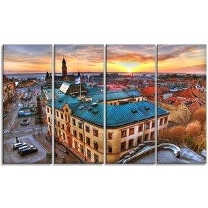'Colorful City Landscape' Photographic Print Multi-Piece Image on Canvas by Design Art