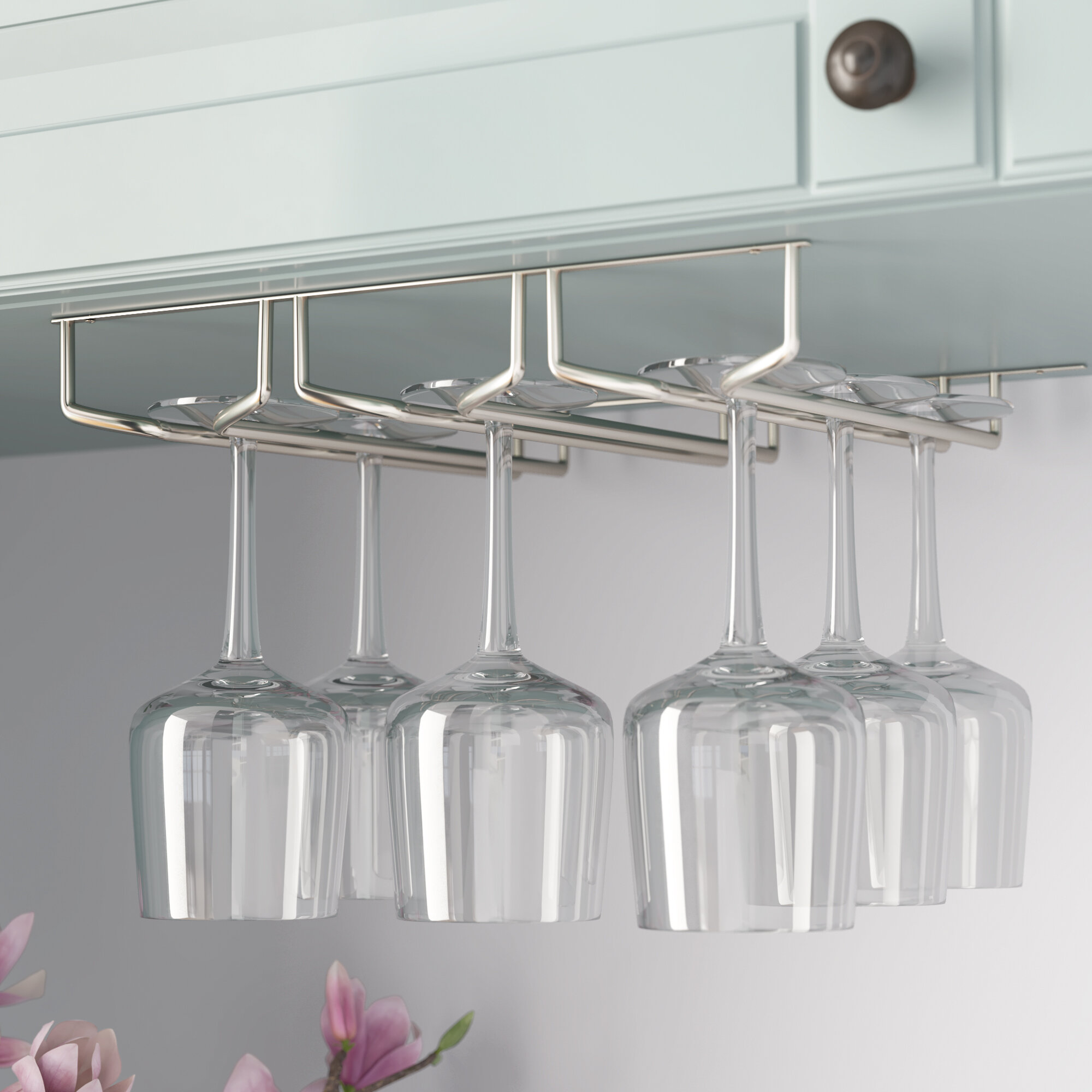 Mind Reader Hanging Wine Gl Rack