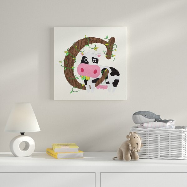 C Framed Graphic Art on Wrapped Canvas by Zoomie Kids
