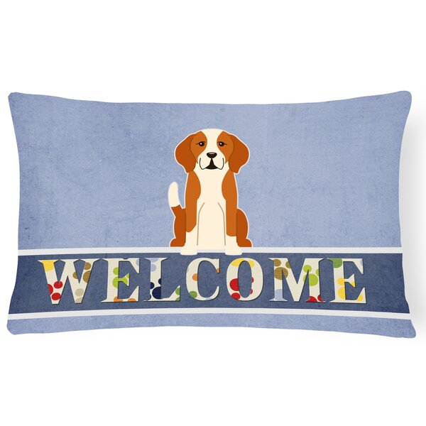 Robesonia English Foxhound Welcome Lumbar Pillow by Red Barrel Studio