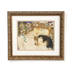 'Three Ages of Woman-Mother and Child (Detail IV)' by Gustav Klimt Framed Painting Print by Mistana