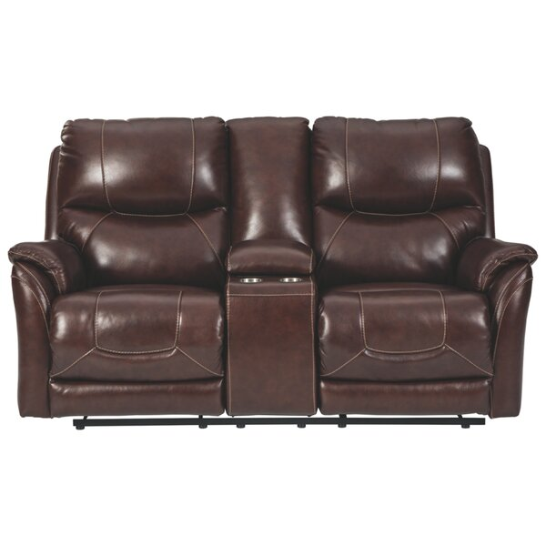 Best Choices Schaller Leather Reclining 75 Pillow Top Arms Loveseat by Red Barrel Studio